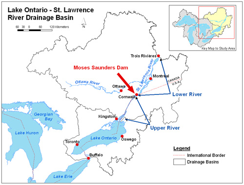 The Lake Ontario St Lawrence River System - St lawrence river on us map